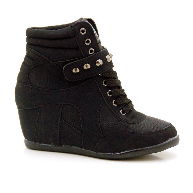 Botines mujer tipo sneaker con cu a interior y solapa de for Botines con cuna interior
