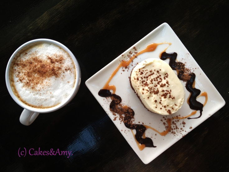 Cappuccino and White Chocolate Mouse. 2 Chefs' Affair. Nanaimo Restaurants. Vancouver Island. www.cakesandamyeatout.com