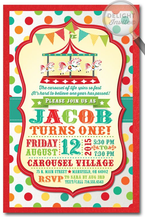 Mer enn 25 bra ideer om Carnival birthday invitations på Pinterest - circus party invitation