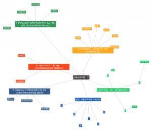 Powstała kolejna mapa myśli z zasadami ortografii.
