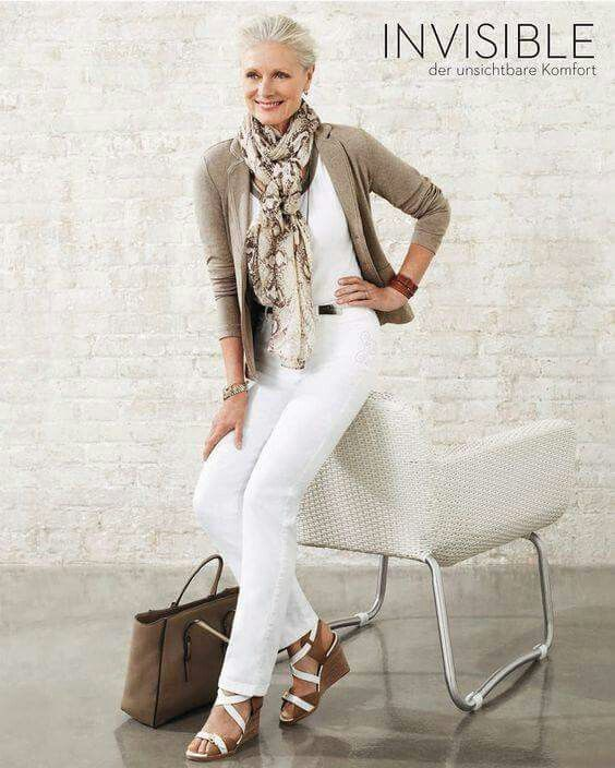 White and beige ...