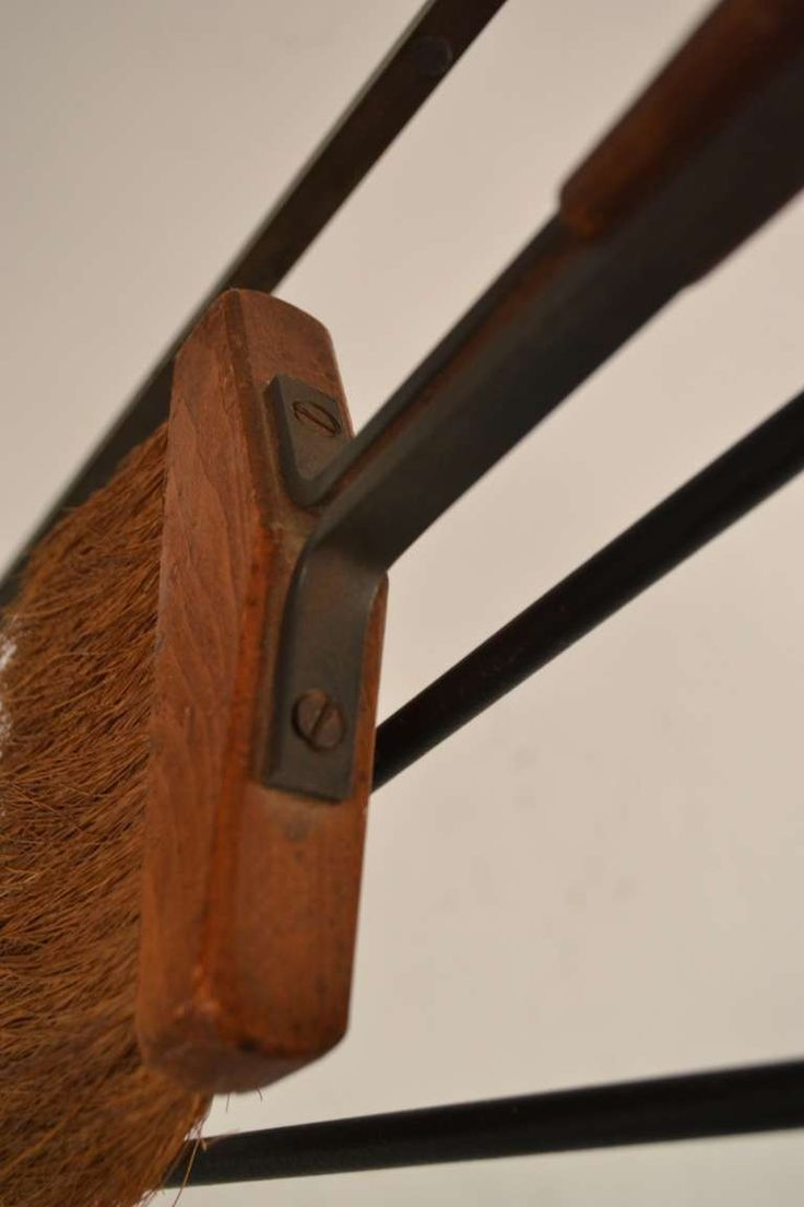 Five-Piece Midcentury Fireplace Tools with Log Holder 10