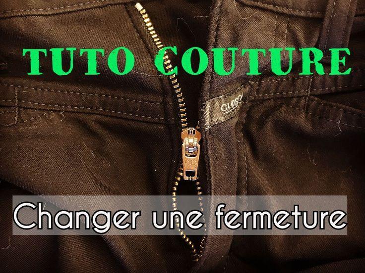 Comment changer une fermeture de pantalon - Tuto Couture Facile