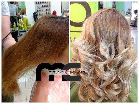 Окрашивание в блонд из рыжего // From red to blonde hair coloring - YouTube