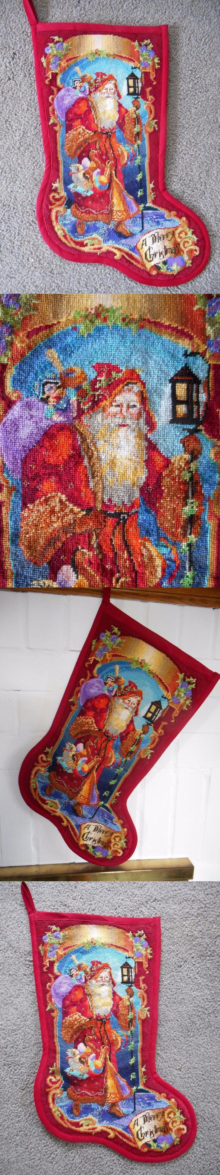 Finished Needlepoint Pieces 83946: New Finished Bucilla Father Christmas Needlepoint Stocking Rossi Santa 60769 -> BUY IT NOW ONLY: $499.99 on eBay!