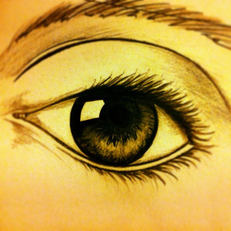 Disegno occhio matita sfumature