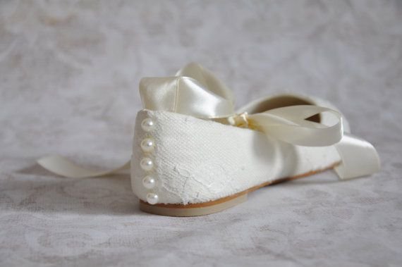 Lace wedding flats ballet flats with by gorgeousweddingshoes