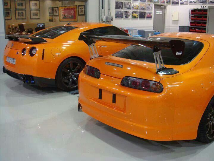 Yellow Gt R And Supra