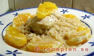 Kyckling i apelsinsås - Ett recept på en god, nyttig och enkel rätt med kyckling och apelsin.