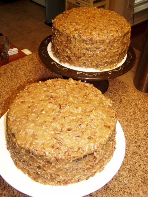 German Chocolate Cake completely from scratch