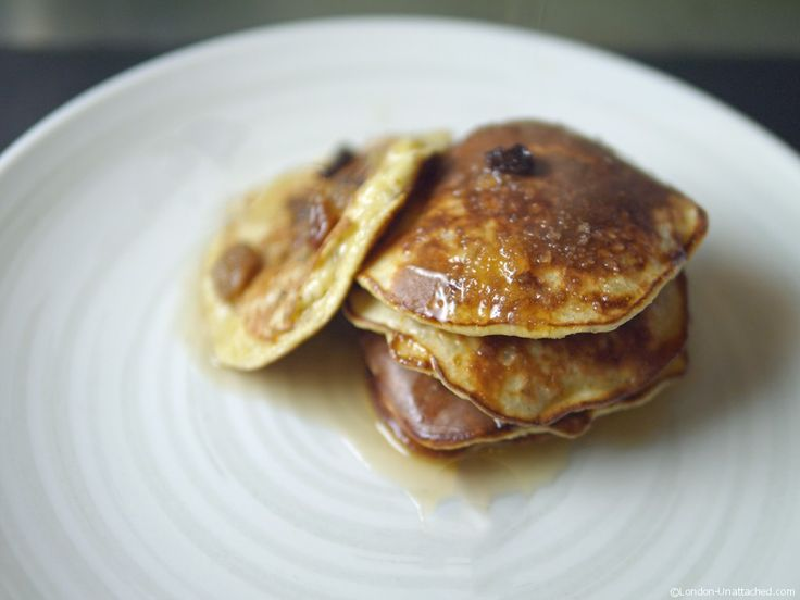 Rum and Raisin 3 ingredient Banana Pancakes