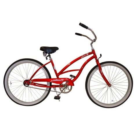 Micargi Bicycles Pantera Women's 26-Inch Beach Cruiser Bike RED Color. With an elegant design that you will find hard to resist, the Pantera is just plain fun! Check it out on MicargiBikeDeals.com. #Micargi #MicargiBikes #MicargiBikeDeals #MicargiBikeDeals.com