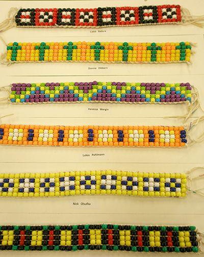 8th Grade Cultural Art projects. - Wampum Beaded Belts