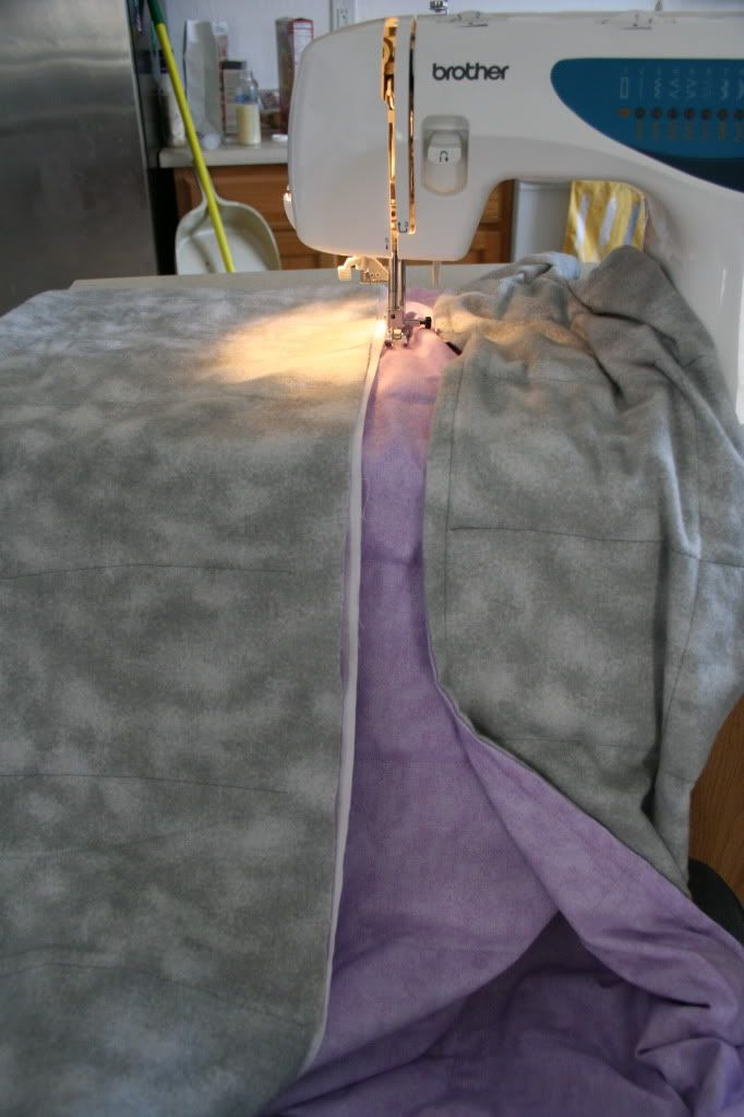 DIY for making a weighted blanket!  Great for those sensory seeking children.  If you had a pattern, you could probably tweek it for a weight vest, too!