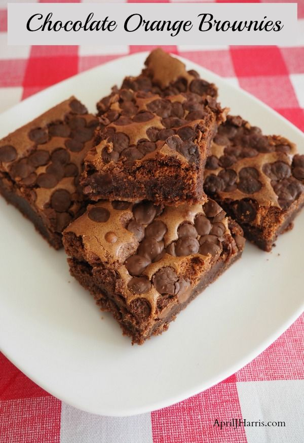 Best Chocolate Orange Brownies - an easy recipe the whole family will love