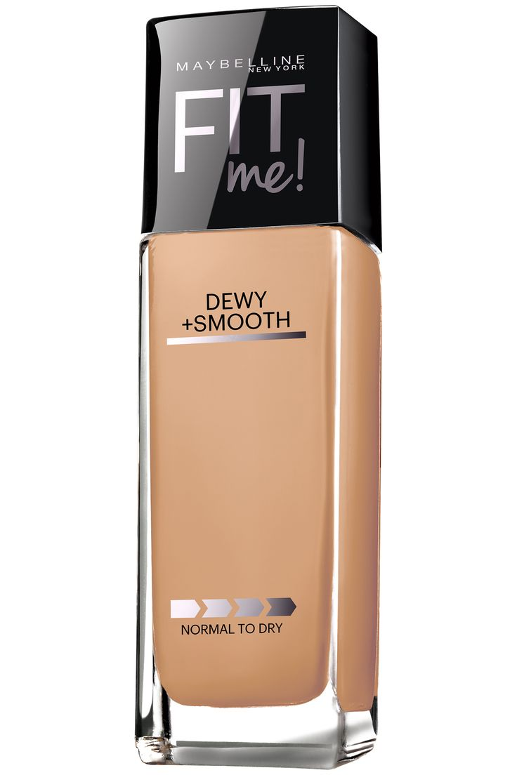 Maybelline Fit Me! Dewy + Smooth Foundation, $8, available at mass retailers nationwide. Courtesy Maybelline  - HarpersBAZAAR.com