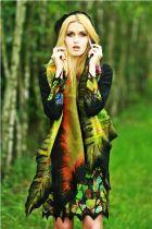 www.polandhandmade.pl #polandhandmade #felting #szaljedwabnofilcowy #feltedscarf