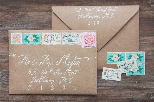 32 Pretty Picture Of Wedding Invitation Postage Modern
