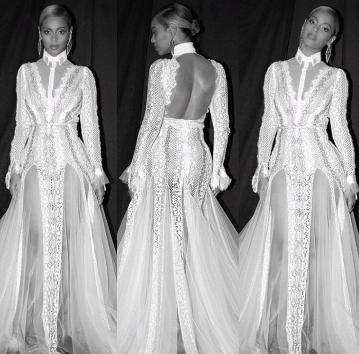 Beyonc 2016 grammys beyonc 39 s dress was designed by for Beyonce wedding dress pictures