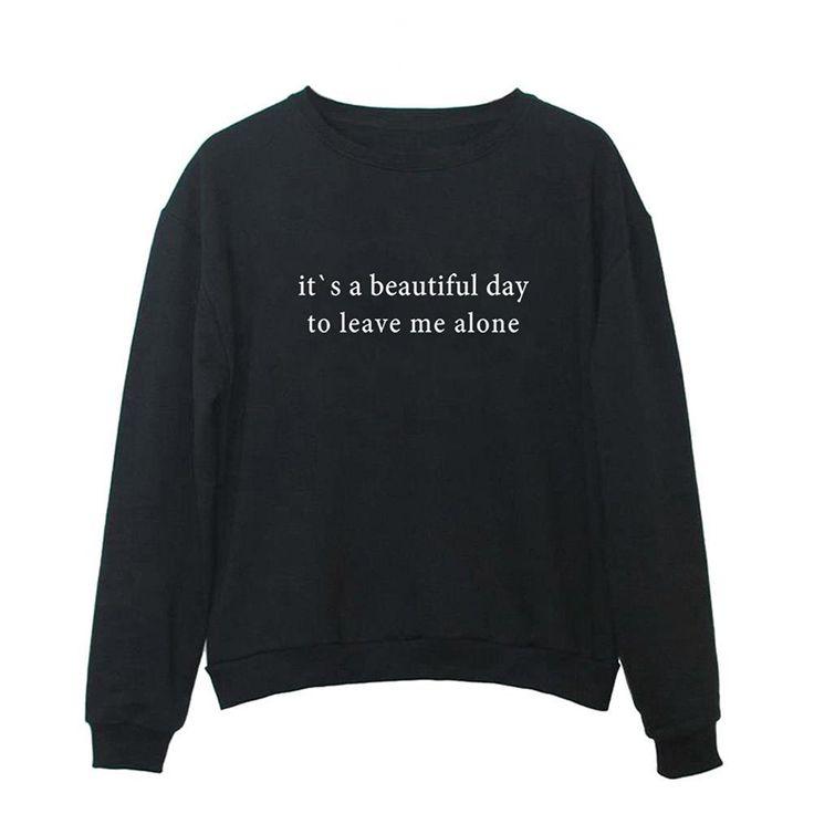 Women Graphic Cute Sweaters Funny Pullover Teen Girls Sweatshirts – Black – C018…