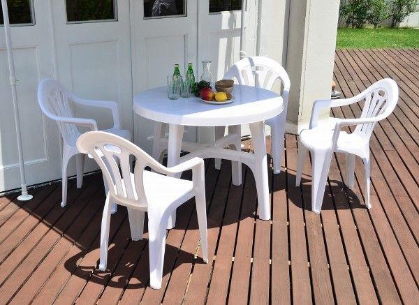 【ガーデンファニチャー】テーブル・チェアー5点セット