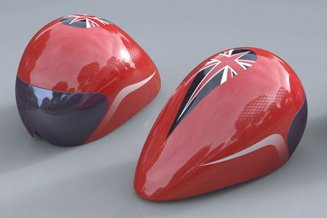 Check out Team GB's sleek new cycling helmets for the London 2012 Olympics!
