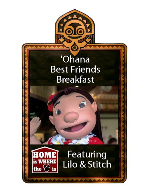 'Ohana Best Friends Breakfast | Home is Where the Mouse is | Disney Dining | Character Dining