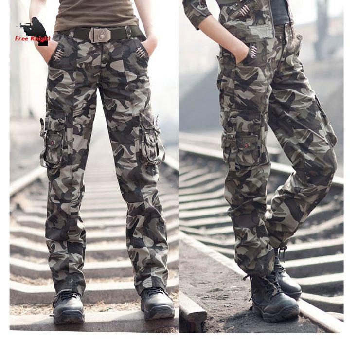 merk vrouwen toevallige katoenen broek rechte broek cargo broek dames broek militair overalls voor vrouwen in  merk vrouwen toevallige katoenen broek rechte broek cargo broek dames broek militair overalls voor vrouwen  van Capri broek& op AliExpress.com | Alibaba Groep