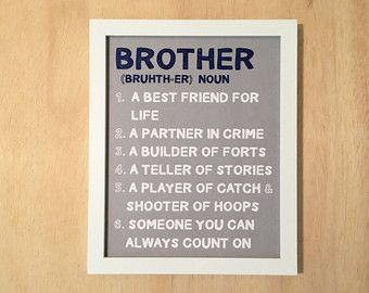 Boys Room Wall Art A brother is a person by SusanNewberryDesigns