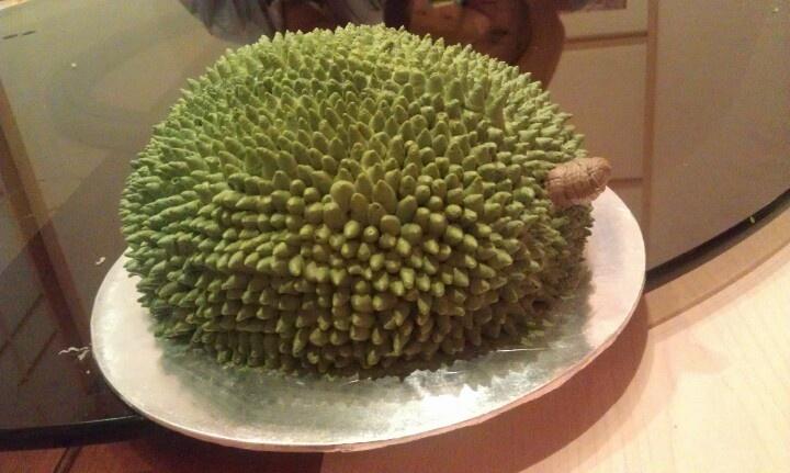 Durian shape cake