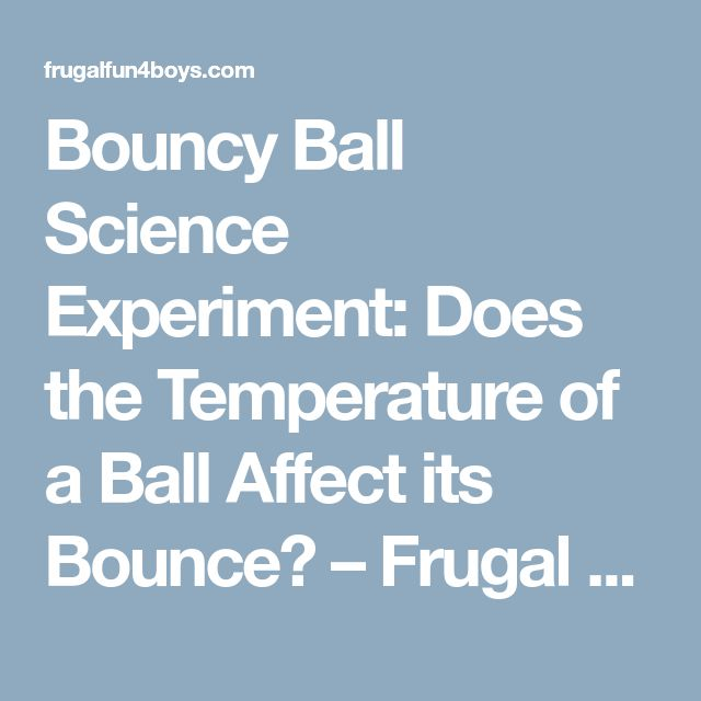 how to make a bouncy ball science experiment