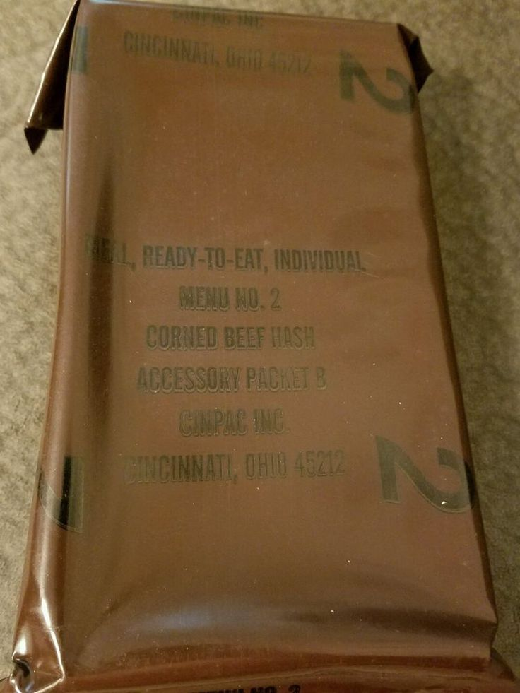 #Vintage #MRE Menu 2 #Corned #Beef #Hash US #Military Ration Meal Ready To #Eat