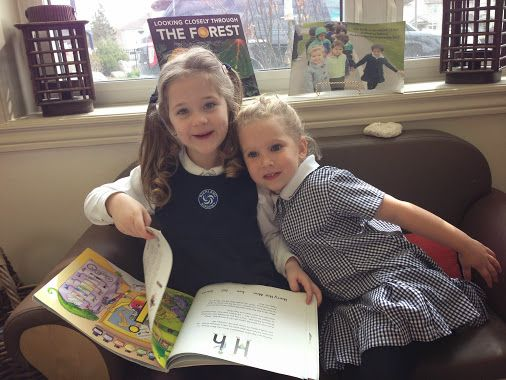 "Friendship blossoms as two friends share a story together. ""I feel good because we're reading the letters together."""