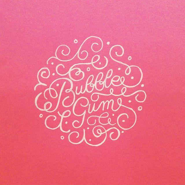 #bubblegum #daybydaylettering #day12 #letteringchallenge @zenjablog - #lettering #typography #handlettering