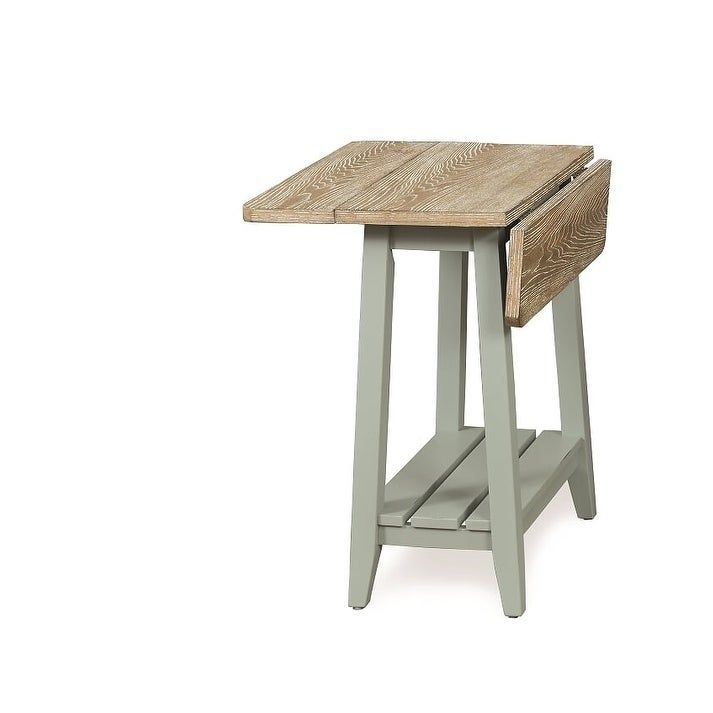 Solid Wood Drop Leaf End Table Green Heartwood Crossing End Tables Table Frame Solid Wood
