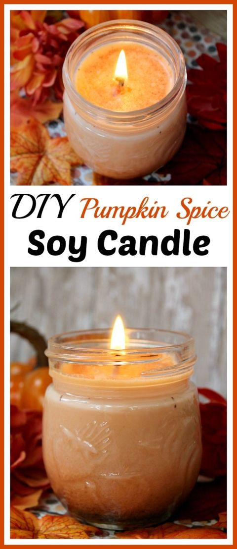 DIY Craft: Want a lovely fall scented candle for your home? Skip the expensive brands and the dangerous paraffin and make this DIY pumpkin spice soy candle!