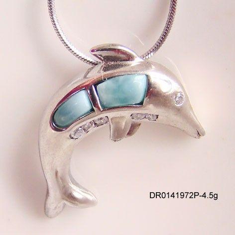 2015 mooie larimar stenen hanger, zilver natuurlijke stenen dieren dolfijn larimar sieraden dr0141972p geaccepteerd door paypal-zilveren sieraden-product-ID:60147751250-dutch.alibaba.com