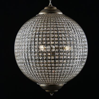 extra large gold globe chandelier