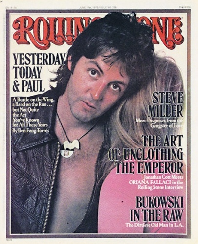 Paul-Linda Rolling Stone Cover ~ June 17, 1976 ~ Annie Leibovitz
