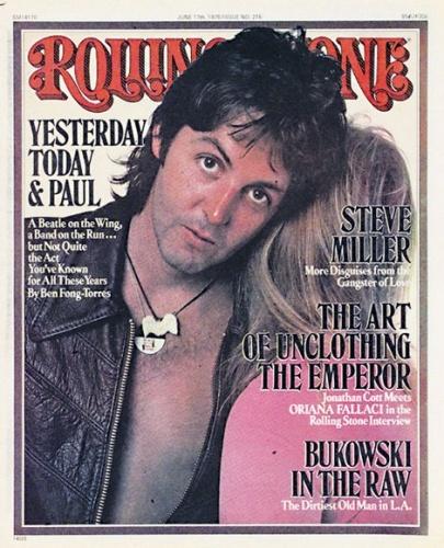 Paul-Linda Rolling Stone Cover ~ June 17, 1976 ~ Annie Leibovitz