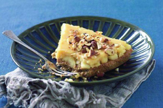 Křupavý ovesný koláč s jablky