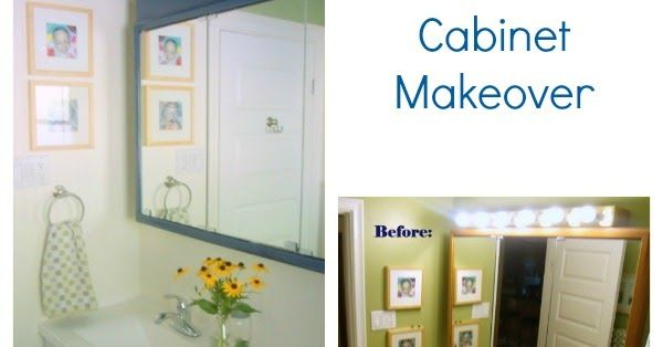 A fun and frugal makeover of an old dingy medicine cabinet. We took a builder basic mirrored medicine cabinet and added classic modern elements to make it fresh and attractive. Here is how to update your bathroom on a tight budget.