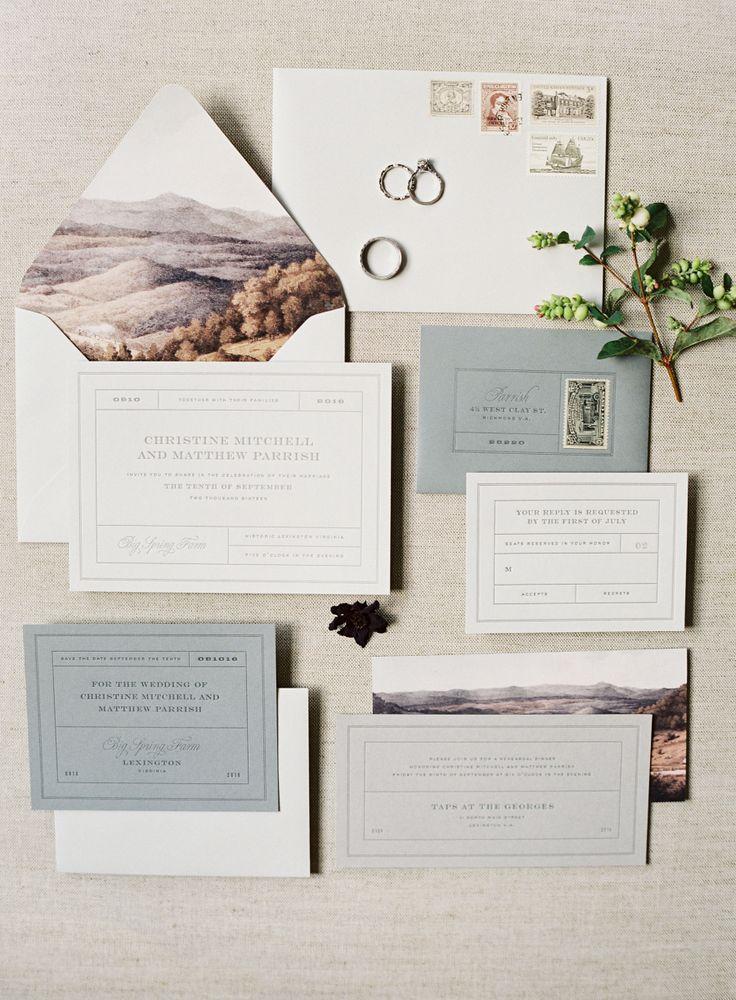 Stationery: Typo Boutique - http://www.stylemepretty.com/portfolio/typo-boutique Photography: Sawyer Baird - www.sawyerbaird.com Read More on SMP: http://www.stylemepretty.com/2016/11/01/fall-outdoor-virgina-wedding/