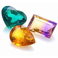 Gemstones by Color: Tourmaline, Ametrine, Citrine. More @ www.multicolour.com and #gemstones