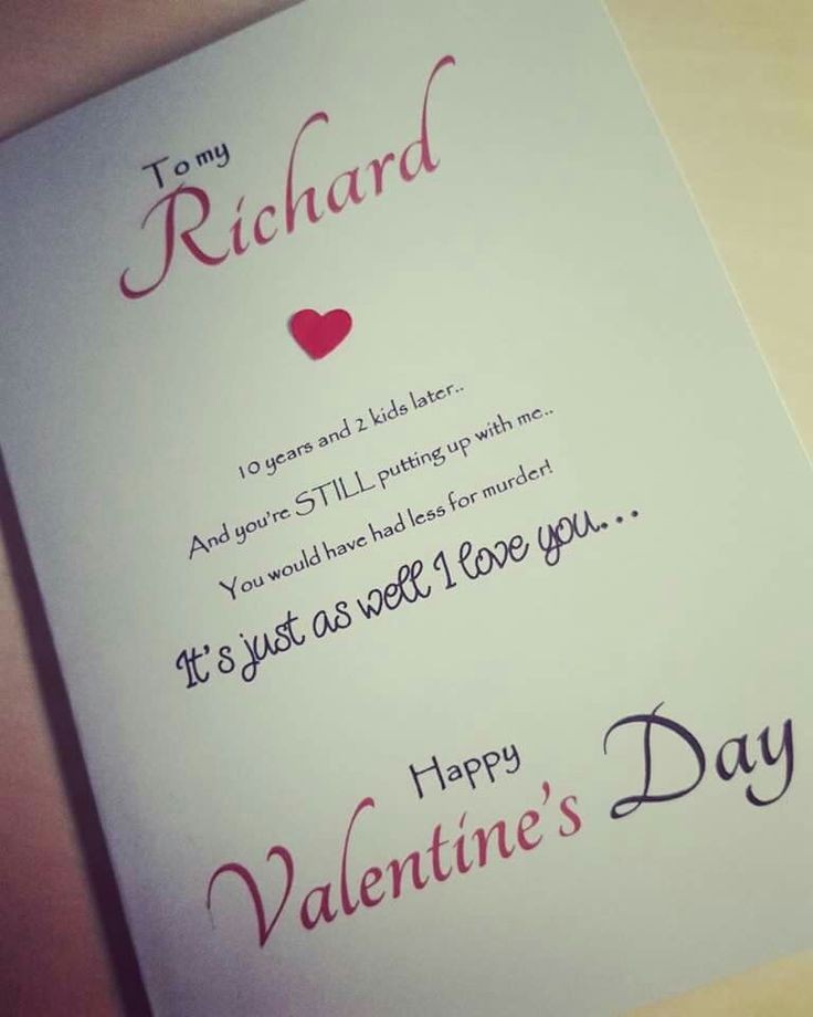 Valentines Card for Him