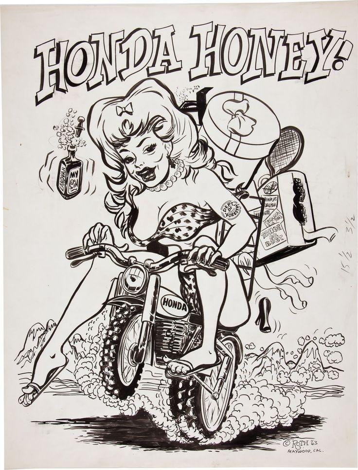Honda Honey! Decal. > Ed Roth.