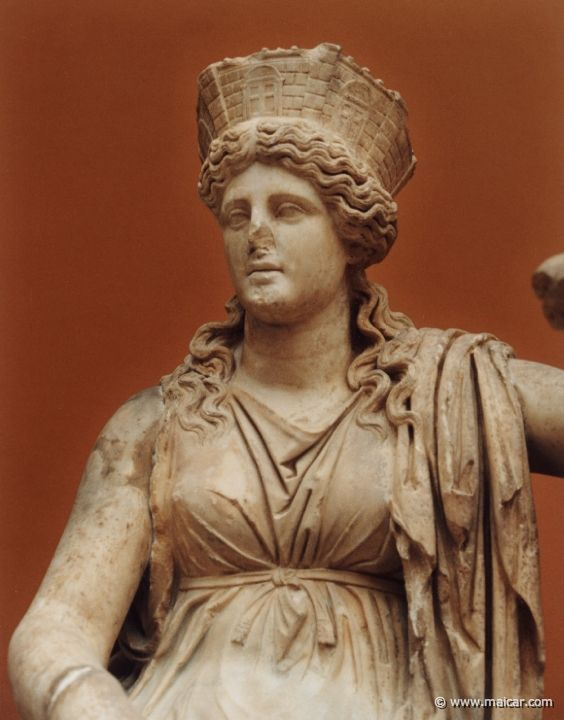 Rhea - Titan of female fertility, motherhood, and generation. She is the sister and consort of Cronus, and mother of Zeus, Hades, Poseidon, Hera, Demeter and Hestia