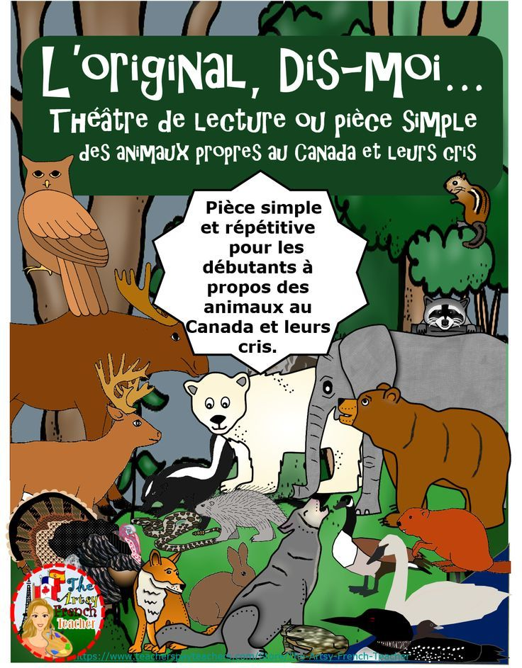 This simple, repetitive Readers' Theatre or Play is great for beginning French speakers in Primary immersion. Children will love to learn vocabulary about Canadian wildlife and their sounds. This resource could be used during Hallowe'en for it would give the students a chance to dress up in non-scary apparel. Alternatively it could be used during S.S.'s Canadian Provinces or with the Science unit - Characteristics of Living Things. Tips for presenting and mask-making are included.