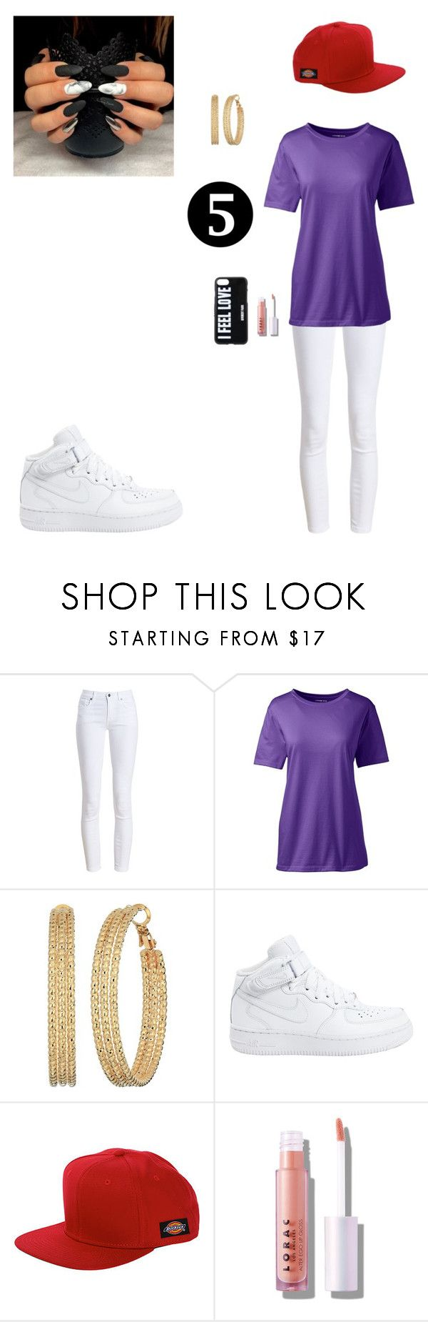 """Kids next door #5"" by bribriwiggins ❤ liked on Polyvore featuring Barbour, Lands' End, GUESS, NIKE, Dickies, LORAC and Givenchy"
