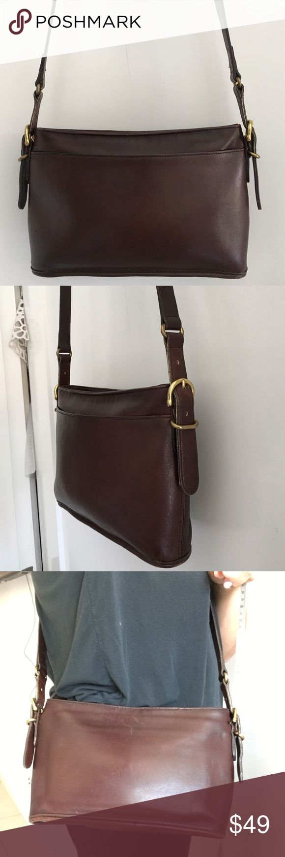 Vintage Coach Legacy Brown Crossbody Bag Vintage Authentic Coach Legacy Brown Crossbody Bag. Serial No. H7C-9802. Adjustable strap. Made in the USA. Signs of wear and patina given bags age. Please look at pictures for better reference. Happy shopping!! Coach Bags Crossbody Bags